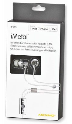 iP-395 iMetal Isolation Earphones with Remote & Mic